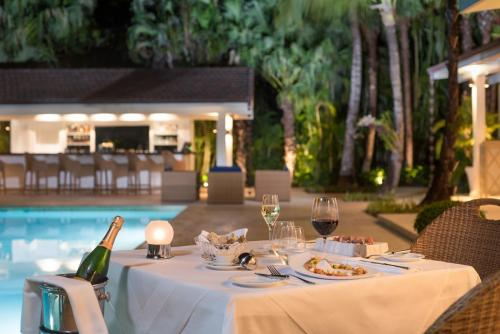 Tortuga Bay Romantic Dinner Bamboo Restaurant Patio  Pool Area